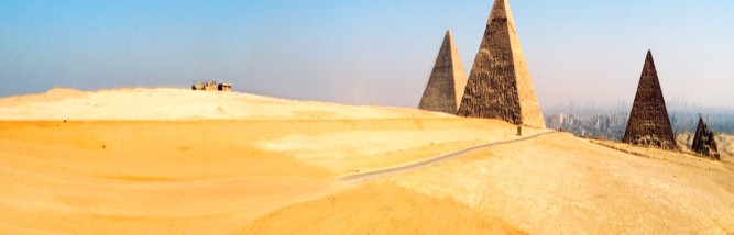 Autostitch iPhoneography panorama of Giza
