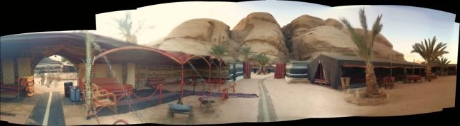 Autostitch panorama of Bedouin camp, iPhoneography
