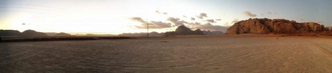 Sunrise, Wadi Rum, autostitch