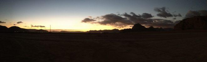 Sunrise at Captain's camp, Wadi Rum, Jordan