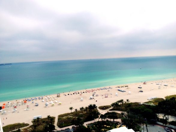 A view of SoBe from our room at The Shore Club