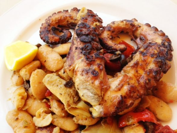 Char-grilled Octopus for lunch at the Standard Miami