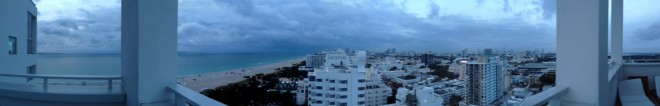 Cloudy panorama from balcony at the ShoreClub