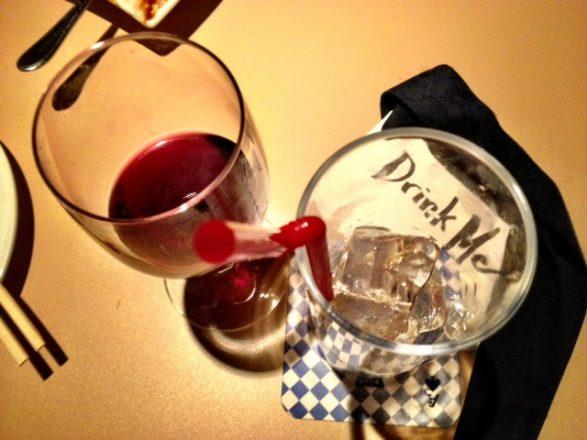 Drink at Alice's Magic World restaurant