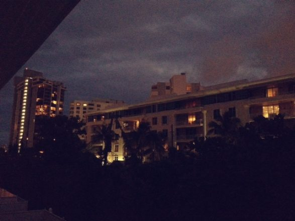 Mobile photography image of night view at the Standard Miami