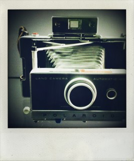 One of Helmut Newton's cameras, Berlin (mobile photography)