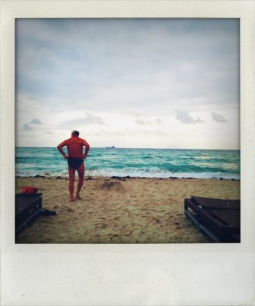 Picture of South Beach swimmer I took on my iPhone