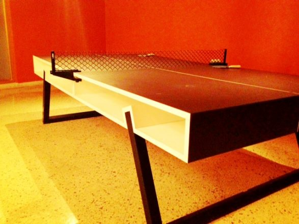 Ping pong table at the Standard hotel Miami