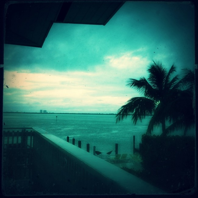 Rainy Morning in Miami-The view from The Standard Hotel Miami