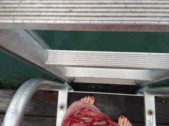 Self-portrait on the dock at the Standard, Miami