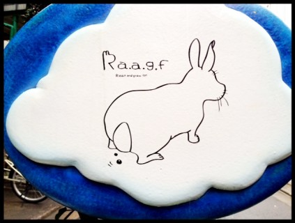 Sign for Rabbit and Grow Fat in Harajuku #mobilephotography