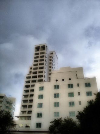 The shore club on a cloudy day