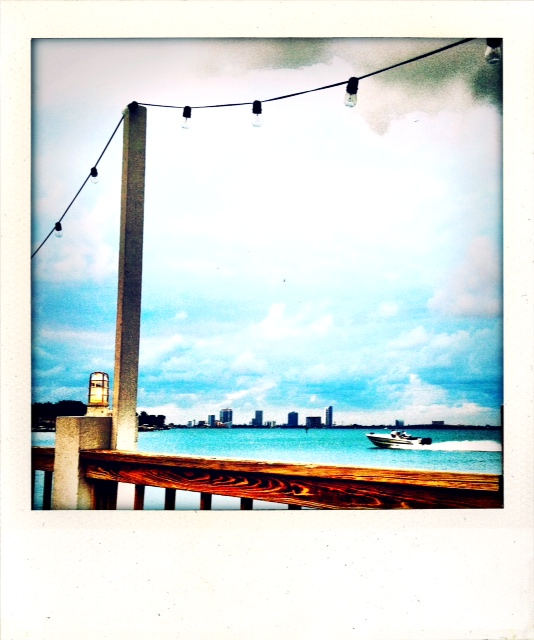 The view from the Bayside Restaurant at the Standard Hotel Miami