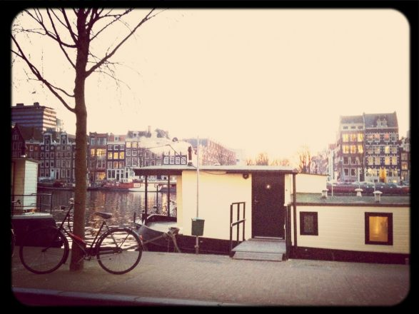A houseboat on the Amstel