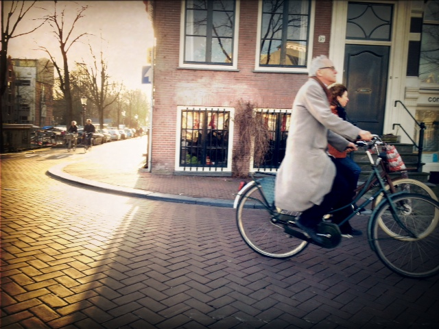 A spring tandem bike ride in Amsterdam (mobile photography)