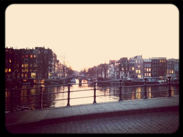 Along the Amstel last night. Mobile photography