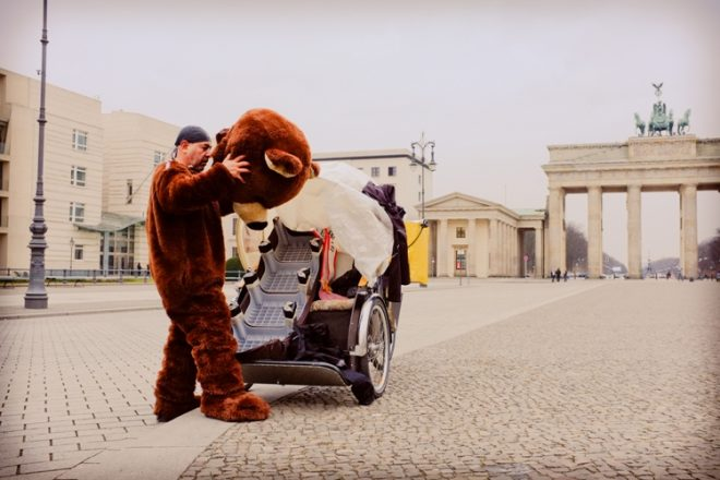 Bear going to work, FujiX100