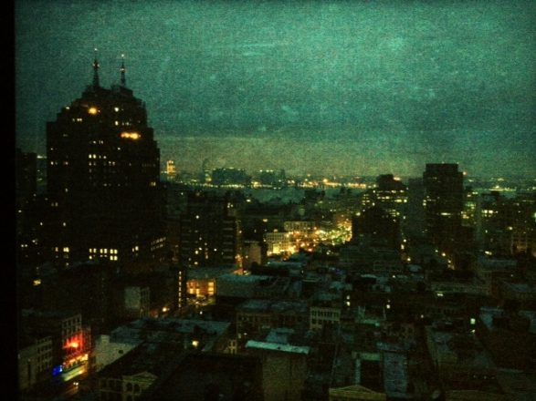 City lights viewed from the 24th floor of the Mondrian SoHo Hotel (mobile photography)