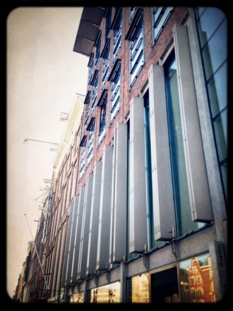 Exterior of the Anne Frank House. Mobile photography