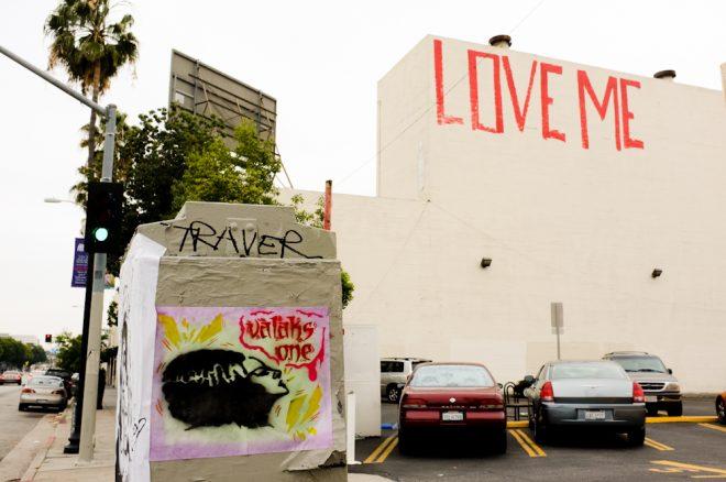 Street Art on Fairfax Avein Los Angeles