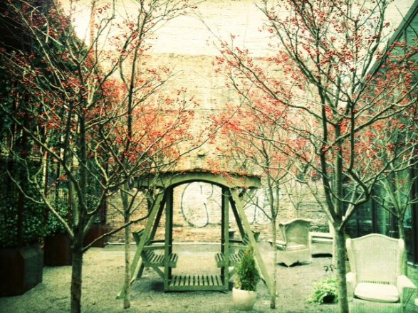The lovely European inspired garden at Mondrian SOHO. Felt like it was out of a fairy tale. (iPhoneography)