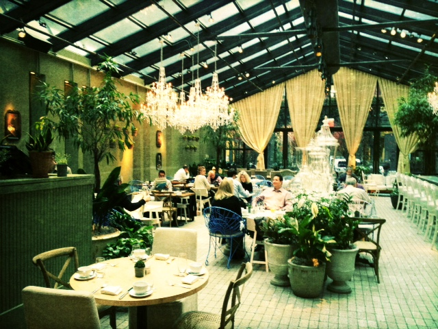 Top Chef alumnus Sam Talbot is the chef of Imperial No. 9 restaurant. The restaurant is a beautiful conservatory type space that felt very European (mobile photography)