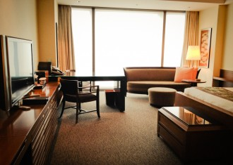 Even the standard rooms at the Mandarin Tokyo are spacious