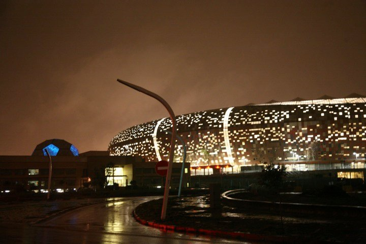 Jo'burg's Soccer City Stadium has seen a lot of Balls in action, incluing the World Cup 2010 final, Soth Africa