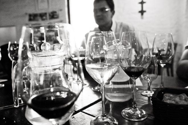 Rolf leading wine tasting