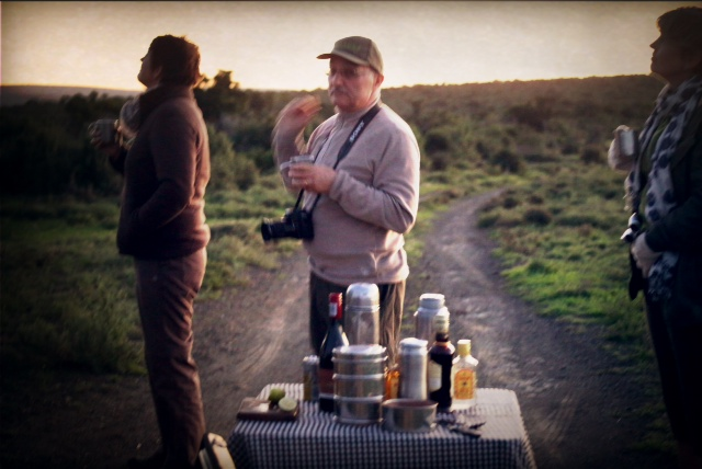 Sundowners in the bush