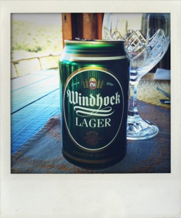 Windhoek lager is brewed in Namibia but tastes just fine in South Africa