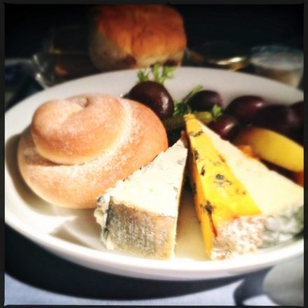 Cheese plate on United 934 from