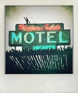 Mojave Sands Motel sign