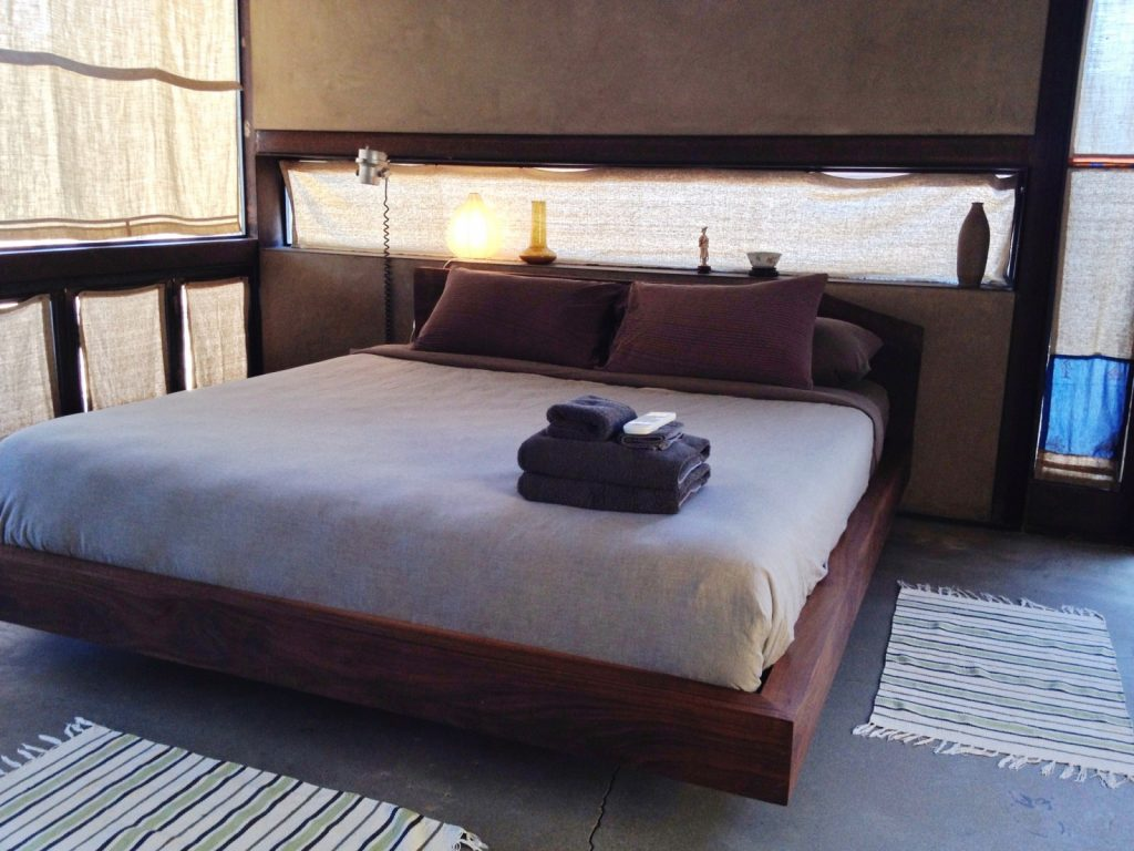 My bed at the Mojave Sands Motel