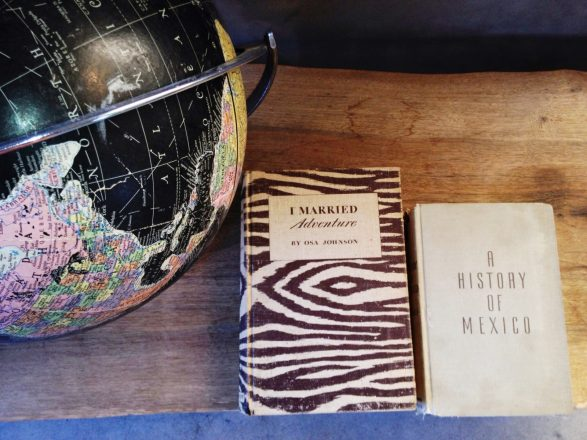 Thoughtful and cool details like vintage globes and an interesting books are in all the rooms