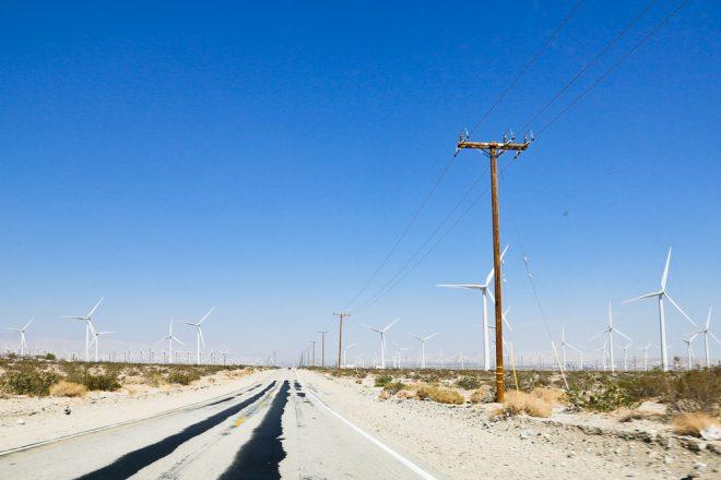 Wind farm drive by