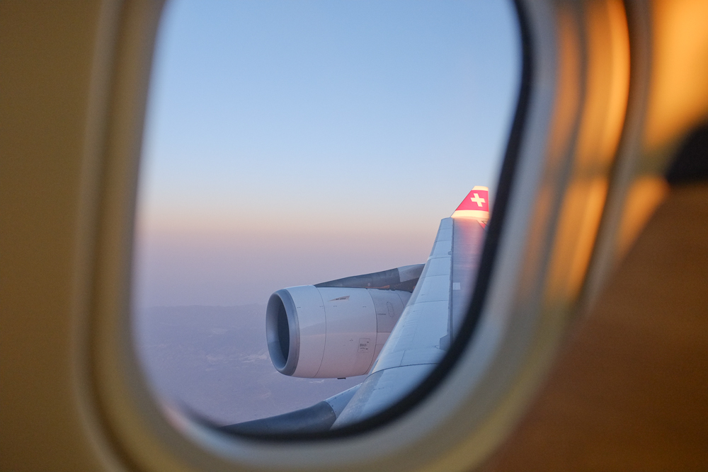 The View from 7K on Swiss from LAX- ZRH
