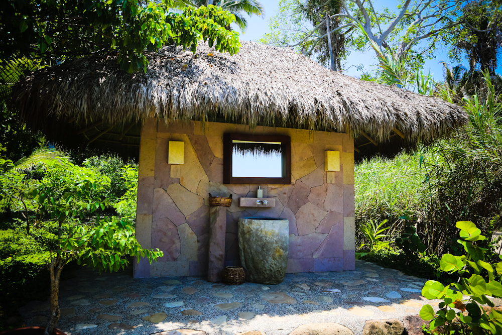 Beach bathroom facilities