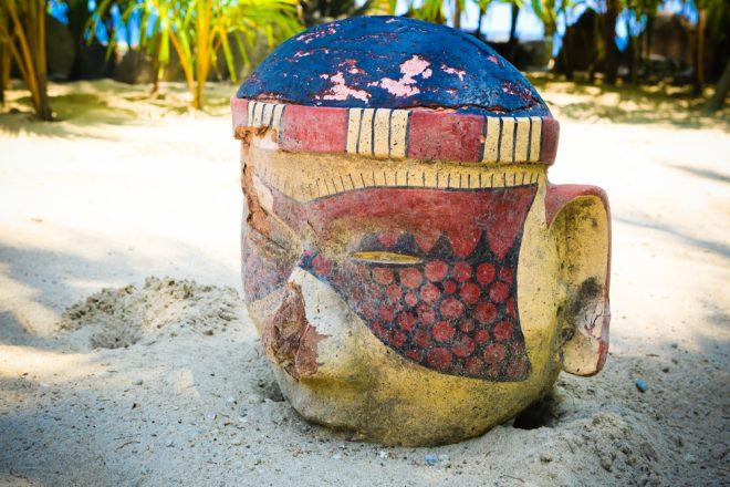 Groovy art on the beach