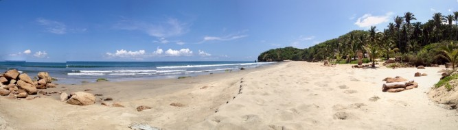 Having a golden sandy beach like this to yourself is the norm at Imanta