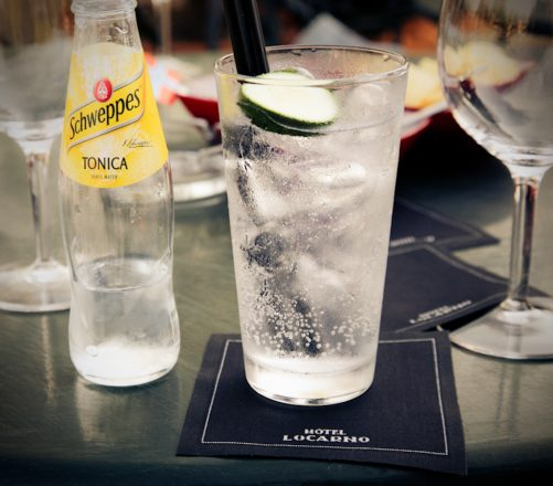 Ginand tonic at Hotel Locarno
