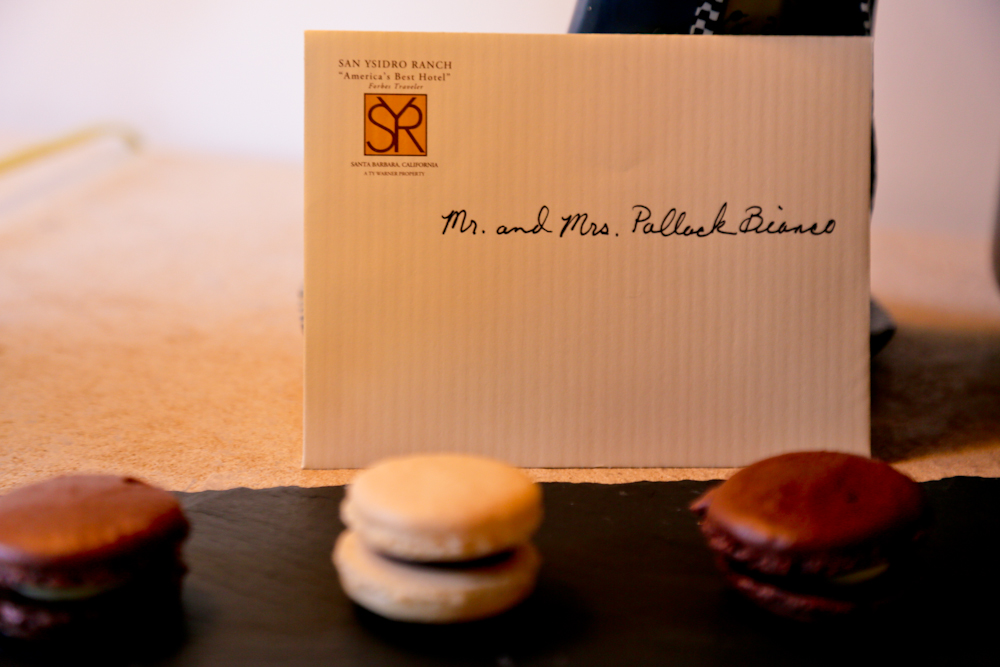 Macarons were a welcome amenity