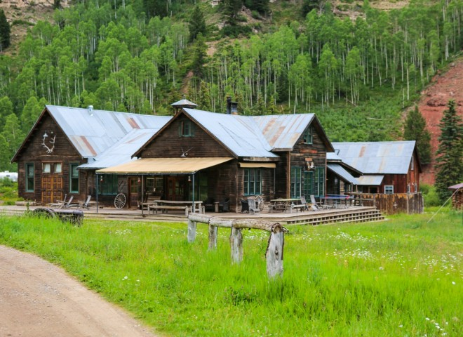 The Saloon & Dance Hall is the heart of Dunton Hot Springs  An Atmospheric teepee on the Dunton Hot Springs Grounds