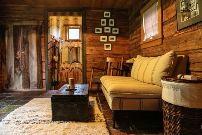 The Interior of Boerkmann's cabin is both funky and fabulous