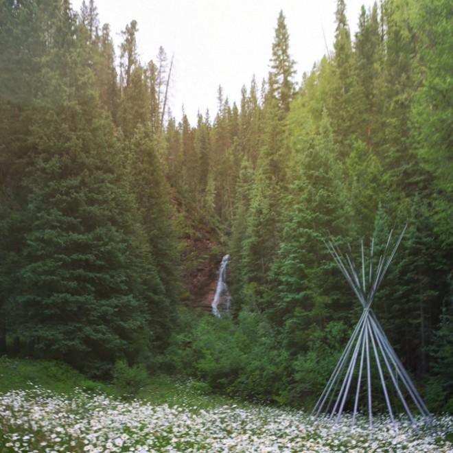 The waterfall at Dunton Hot Springs