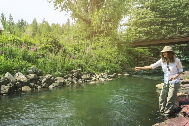 Getting your feet wet is half the fun of fly fishing