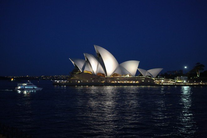 A View of the Sydney Opera House from Room 114 at the Park Hyatt Sydney.