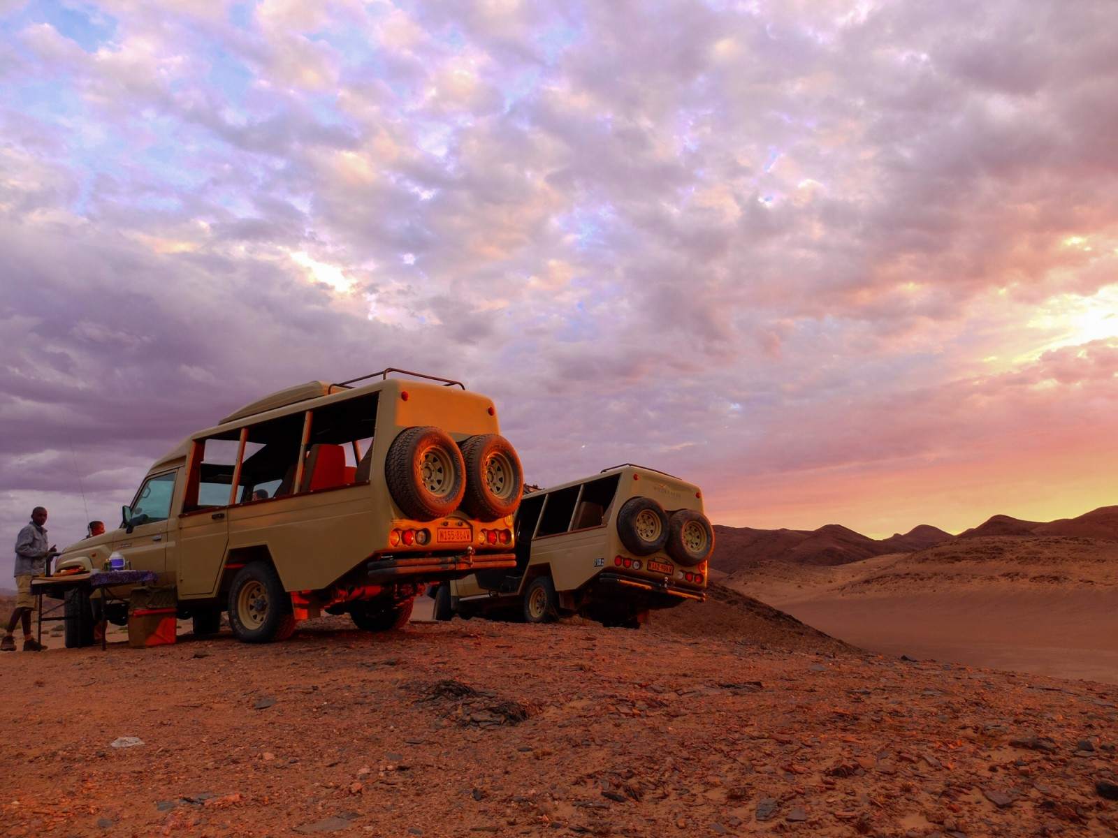 Skeleton Coast sundowner is today's virtualvacay #Namibia