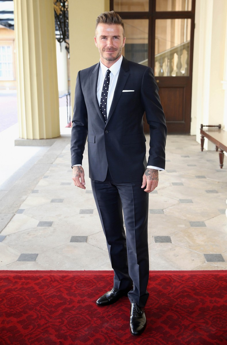 David Beckham at The Queen's Young Leaders Awards