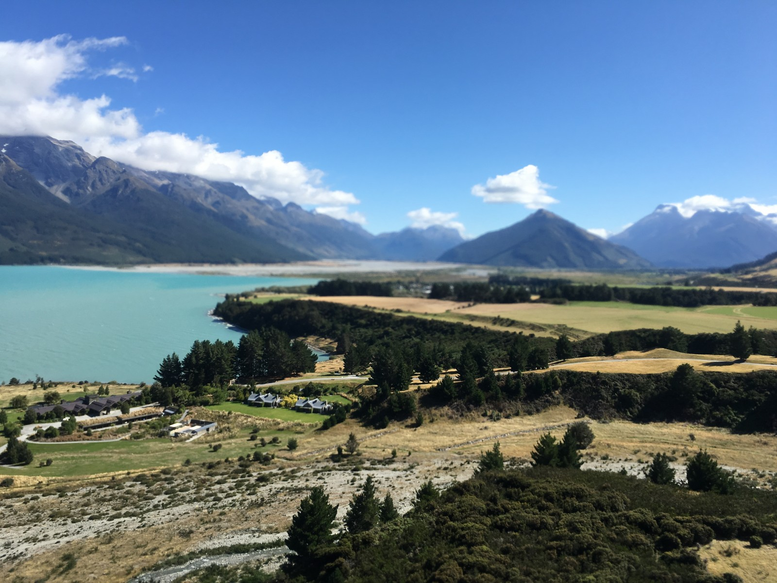 The view of Glenorchy from lift off